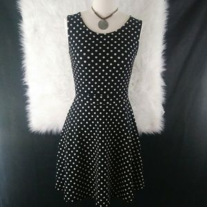 Gilli Black & White Polka Dot Dress Size S